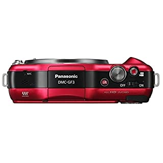 Panasonic Lumix DMC-GF3 12.1MP Red Digital Camera Body Only (International Model)