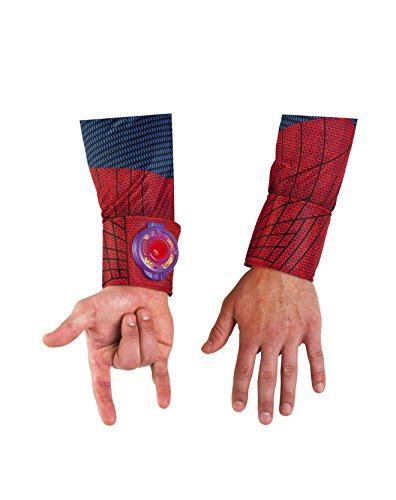 Disguise Marvel The Amazing Spider-Man Light Up Adult Web Shooter, Red/Blue]()
