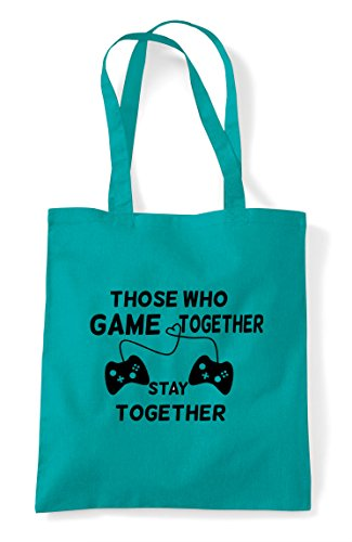 Controllers Together With Who Gaming Statement Emerald Game Couples Shopper Stay Bag Those Tote Buttons WS4HqxXX