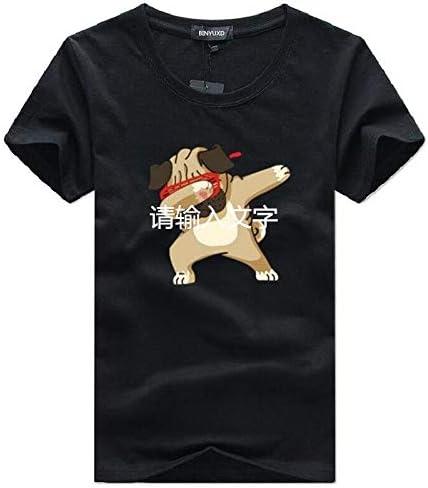 Jlsdw Camisetas Moda De Manga Corta Para Perros Animal Print Marca De Ropa De Hombre Casual Algodon Facil Transpirable Comodo Tallas Grandes S Negro Amazon Es Deportes Y Aire Libre