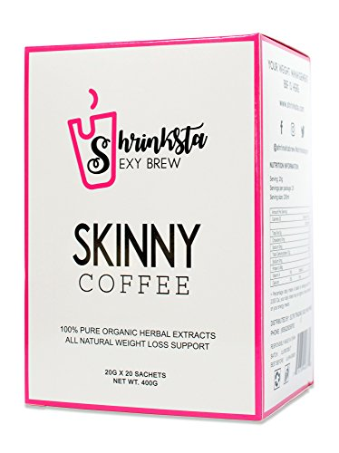 Shrinksta Organic Slimming Weightloss Coffee – All Natural, Vegan And Sugar Free | Perfect On-The-Go Support For The Busy And Health-Conscious | 20 Packets Per Box, 3 Flavors Available
