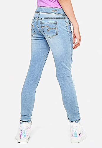 Justice Heart Flip Sequin Pull on Jean Legging (12) by Justice (Image #2)