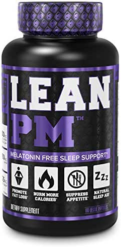 Lean PM Melatonin Free Fat Burner & Sleep Aid - Night Time Sleep Support, Weight Loss Supplement & Appetite Suppressant for Men and Women - 60 Caffeine Free, Keto Friendly Diet Pills