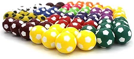 TOYMYTOY 10pcs Mini balones de fútbol de juguete 36MM Resco fútbol de mesa reemplazos de balones para niños (color surtido): Amazon.es: Juguetes y juegos
