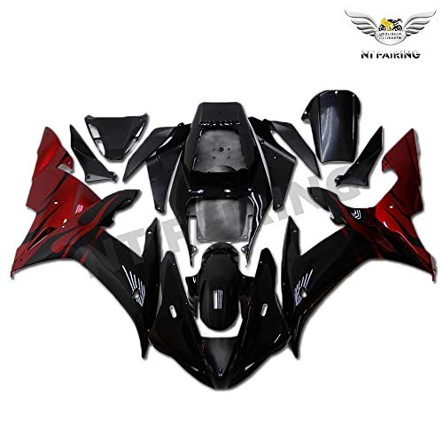 NT FAIRING New Red Flames Injection Mold Fairing Fit for Yamaha 2002 2003 YZF R1 R1000 YZF-R1 New Painted Kit ABS Plastic Motorcycle Bodywork Aftermarket