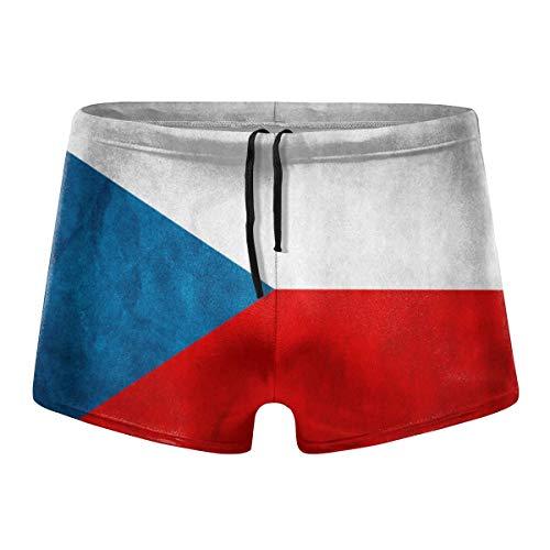 - Lester Lynd Men's Czech Republic Flag Swimwear Swimsuits Swim Boxer Trunks Beach Boxer Shorts