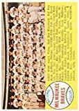 1958 Topps Regular (Baseball) Card# 377 Braves Team alph. of the Milwaukee Braves Fair Condition