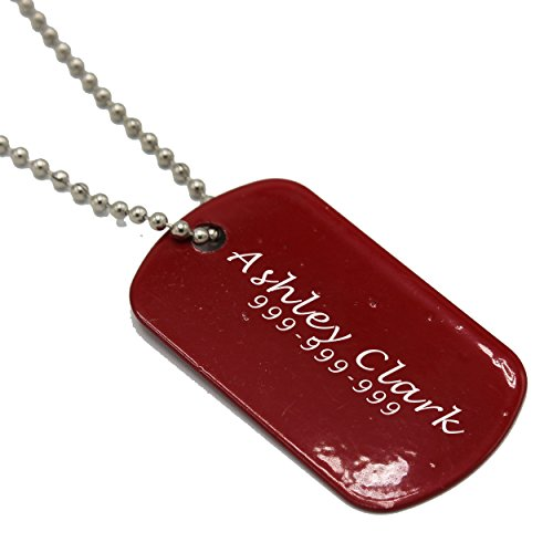 Custom Engraved Military Dog Tag with 30