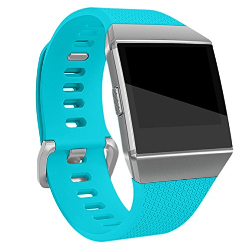 Maledan Replacement Bands Compatible for Fitbit Ionic, Teal, Large