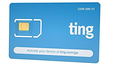Ting GSM SIM card - Average monthly bill is $23. No contract, Universal SIM, Nationwide coverage, Only pay for what you use. from Ting Wireless