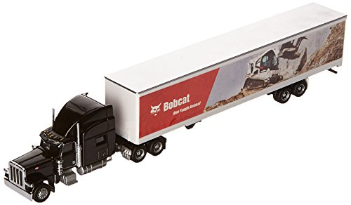 Bobcat Peterbilt Model 389 with Utility 4000D-X Composite Van (1:87 Scale), Black Truck with Multicolor Mural