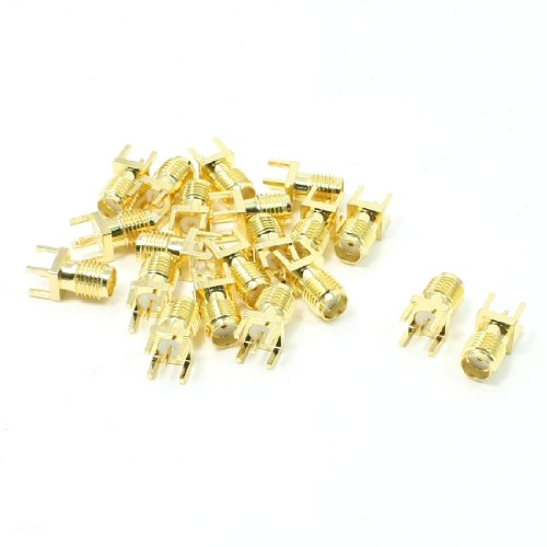 uxcell End Launch PCB Mount SMA Female Straight RF Connector Adapter 20PCS