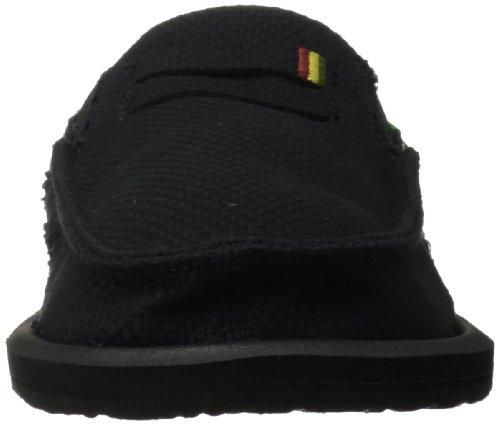 Sanuk Heren Kingston Jute Slip-on Loafer Zwart