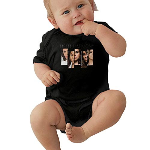 Fifth Harmony Unisex Baby Boy Girl Bodysuits Short Sleeve Infant Cotton Clothes for 0-24 Month 18M Black]()