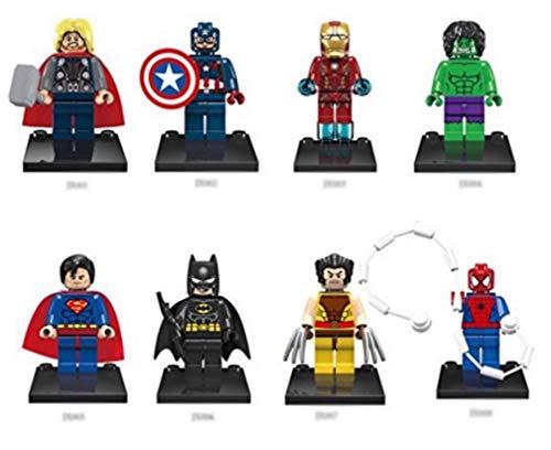 SKS® Express 8pcs/Set Super Heroes Series Minifigures Building Toys