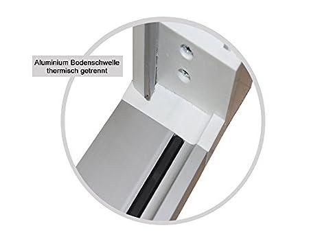 kuporta Kunststoff Haust/ür Carbo 98 x 200 cm DIN links wei/ß mit Dr/ücker-Set und Montage-Set
