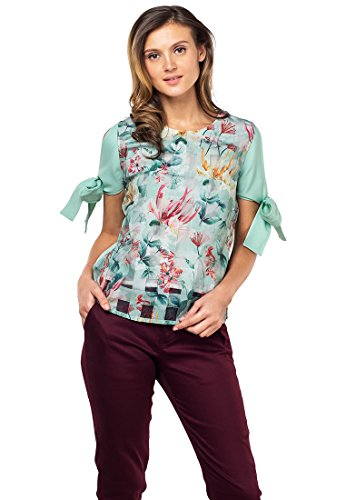 Plains and Prints Womens Weslly Short Sleeves Top Medium - Print Weave Shirt Basket