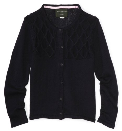 (Eddie Bauer Girls' Big Sweater (More Styles Available), True Navy, 10/12)