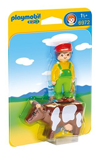 Farmer with Cow - Playmobil 1 2 3 by Playmobil 1 2 3