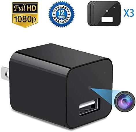 Hidden Camera – 2 in 1 Wireless Home USB Security Spy Camera with Charger 1080P HD Hidden Camera Wide Angle Nanny Spy Camera Loop Recording Security Hidden Camera Motion Detector
