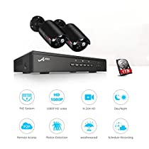 ANRAN Plug And Play 4CH CCTV System&48V POE NVR Kit Onvif P2P 2Pcs1080P 2.0MP HD POE Waterproof Email Alarm Security Camera System