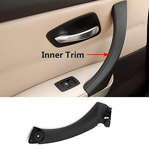 Price comparison product image TTCR-II Door Handle Pull Inner Strap Compatible with BMW 3 Series E90 E91,  Black Left Front / Rear Interior Passenger Side Door Handle Inner Bracket (Fits: 323 325 328 330 335 Sedan&Touring)