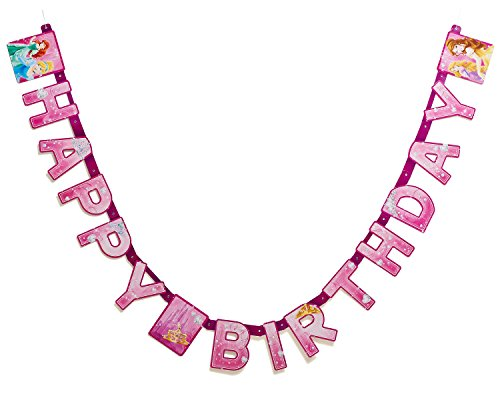 Disney Princess Birthday Party Banner, Party Supplies ()
