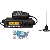 Yaesu FTM-3200DR 2m C4FM Mobile Radio w/ MFJ-1728B Mobile Antenna and Ham Guides TM Pocket Reference Card Bundle!