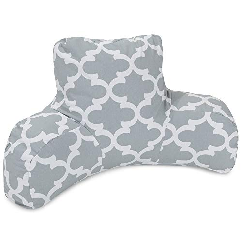 Majestic Home Goods Trellis Reading Pillow, Gray