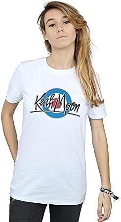Keith Moon Mujer Mod Logo Camiseta del Novio Fit
