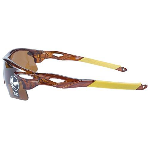 Marrón Bicicleta Aire Gafas Para Marrón ANVEY De Ciclismo Gafas Pesca Gafas Libre Al La Amarillo de De Deportes Moda Montura Sol Lentes Conducción tCCwq0a