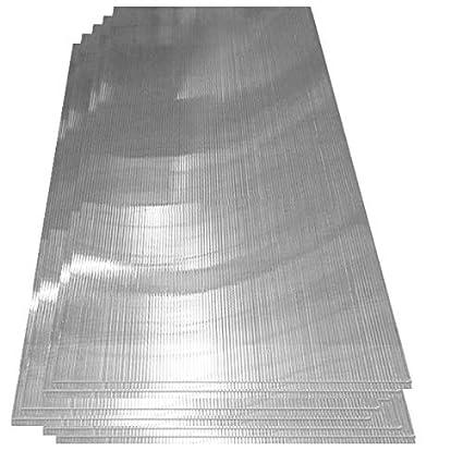 14 x Lastra trasparenti alveolare | Panelli in policarbonato | 4 mm Spessore Deuba