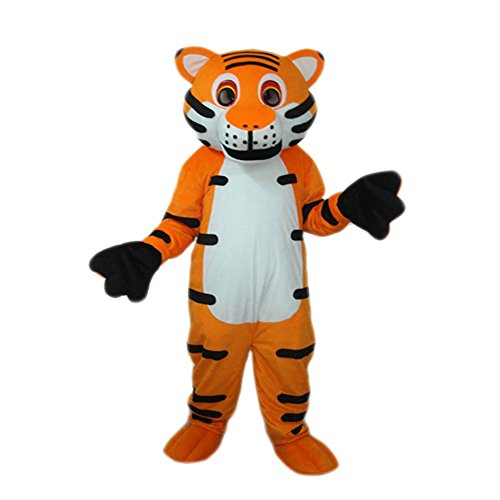 MascotShows Adult Costume Tiger Mascot Costume for School, Sport Teams, Social Events, Merchandising, Costume party etc by MascotShows