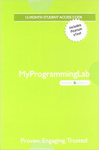 Amazon Com Mylab Programming With Pearson Etext Access Card