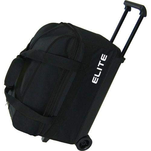 Elite 2 Ball Rolling Bowling Bag - Black (Elite Bowling Ball Bag)