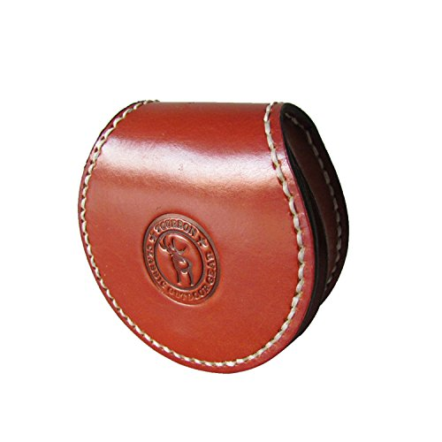 Holder Round Coin - Tourbon 100% Handmade Sewing Round Small Coin Purse Change Holder Earplug Key Holder - Genuine Leather