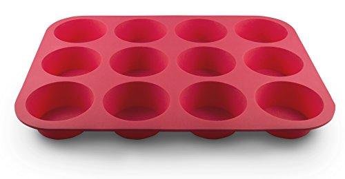 Grazia Silicone Muffin Pan, Red, 12-Cup by Grazia (Image #8)
