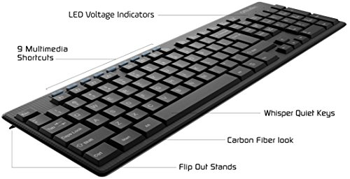 OfficeTec 2.4GHz Wireless Keyboard And Mouse Combo (KB101) by OfficeTec (Image #3)'