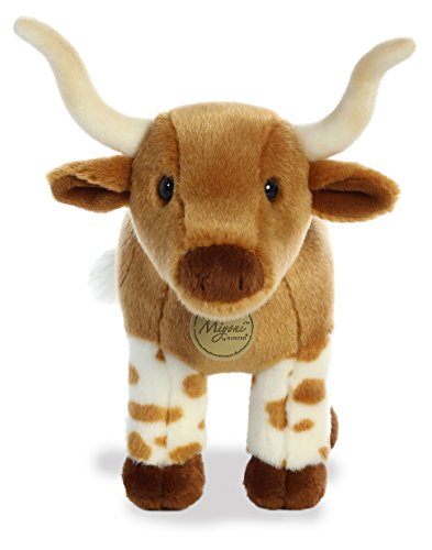 Aurora Longhorn Plush, Brown - Bull Stuffed Animal