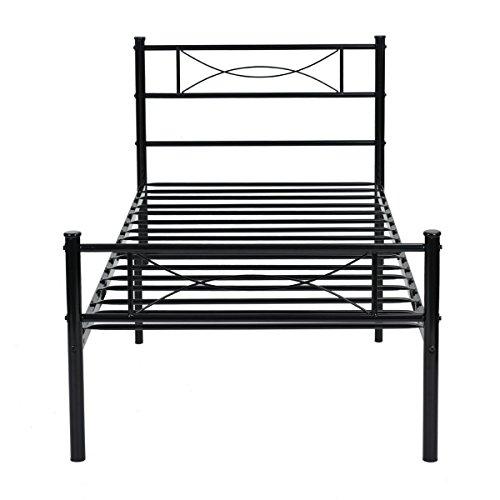 Twin Metal Platform Bed - 1