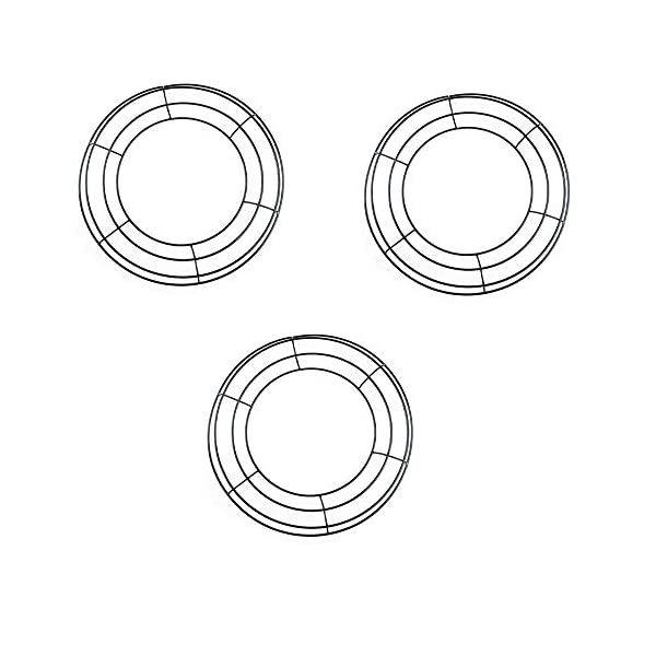 tatoko-3-Pack-Round-Shaped-Wire-Wreath-Frame-Black-Flower-Metal-Wire-Rings-for-Valentines-Day-Holidays-Wedding-Floral-Arrangements-Garden-Home-Party-Decorations-12-Inch
