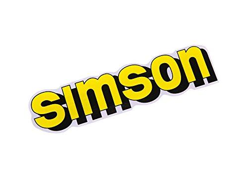Klebeschriftzug Simson gelb