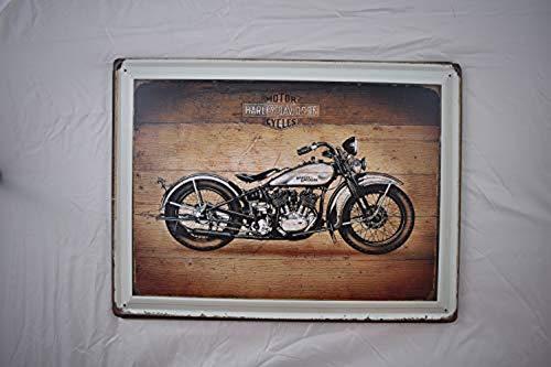 Harley Davidson Retro Motor Oil - Harley Davidson Motorcycle Motor Oil Retro Metal Tin Sign Posters Wall Decor, Size 12