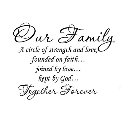 Amazoncom Quote It Vinyl Wall Art Decal Our Family A Circle Of