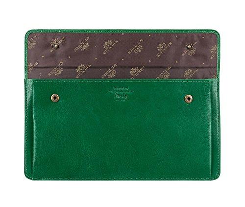 WITTCHEN caso, Verde, Dimensione: 13x24.5 cm - Materiale: Pelle di grano - 21-2-165-0