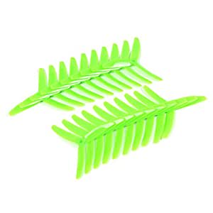 Toolcool 10 Pairs Kingkong 5040 5x4x3 3-Blade Single Color CW CCW Propellers for FPV Quadcopters Multicopters Drones Racer Color Green