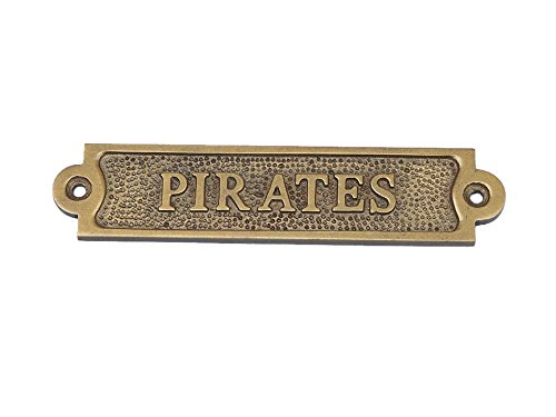 Antique-Brass-Pirates-Sign-Vintage-Pirate-Decoration-Vintage-Pirate-Sign