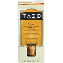 Tazo Chai, Spiced Black Tea Latte Concentrate, 32-Ounce Containers (Pack of 4) by TAZO