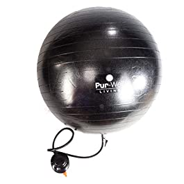 Anti Burst Swiss Exercise Ball 2000 lbs Capacity Pur Exercise Ball (Office & Home Gym) – 55cm