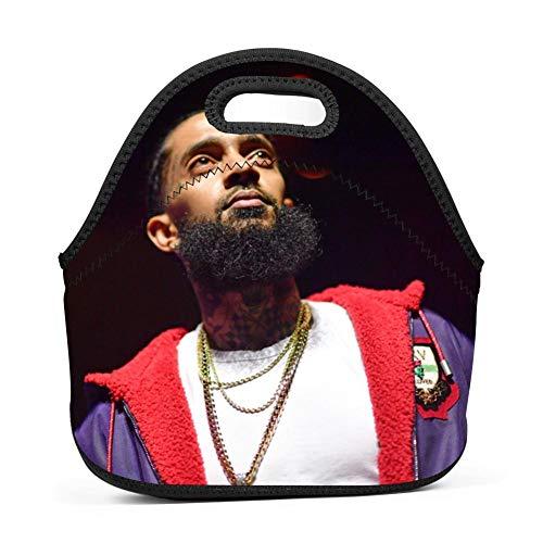 Neoprene Nip-sey Victory Huss-le Lunch Box Waterproof Lunch Bag Tote with Zipper for Kids,Women,Boys,Mens,Girls,School,Picnic